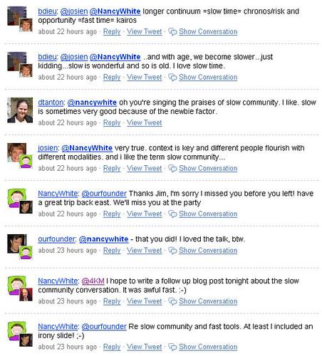 Slow Community Tweets 2
