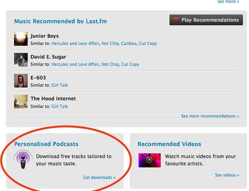 Last.fm Podcasts
