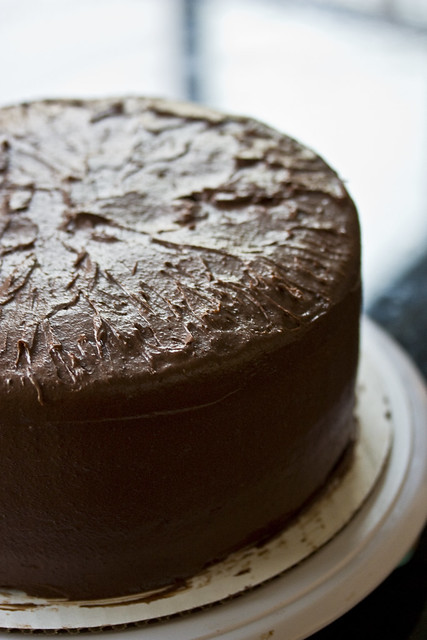 Frosted Chocolate Peppermint Cake
