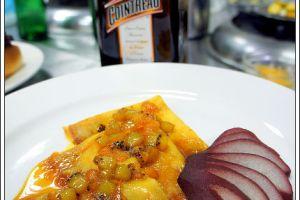 [西餐]點心類 法式火焰薄餅附紅酒洋梨