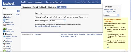 facebook in Basque
