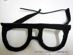 Halloween 萬聖節-沒格的不織布作品 科南眼鏡