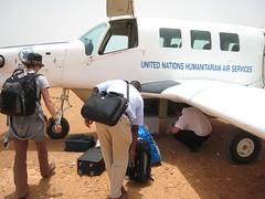 getting luggage gb plane.JPG