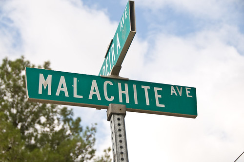 Mentone Street Signs - Malachite Ave
