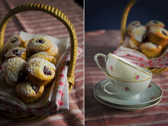 Coconut and berry friands
