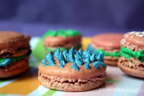 A spiky, colorful cinnamon Macaron for Easter