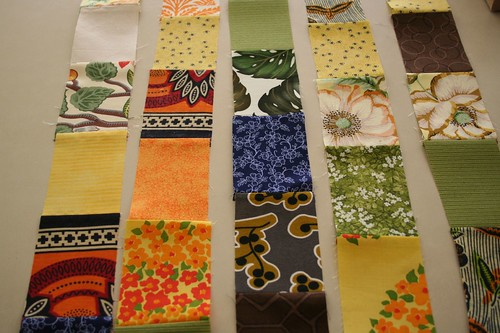 Colorful fabrics for an African wedding quilt