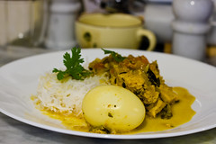 Chicken Curry with Eggs served on Rice #3