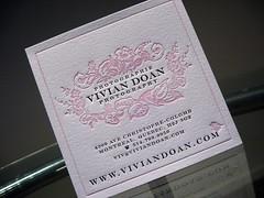 Vivian Doan Photography Letterpress Packaging