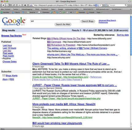 Bill Cammack = #2 blog related to 'bill' - December 14, 2008