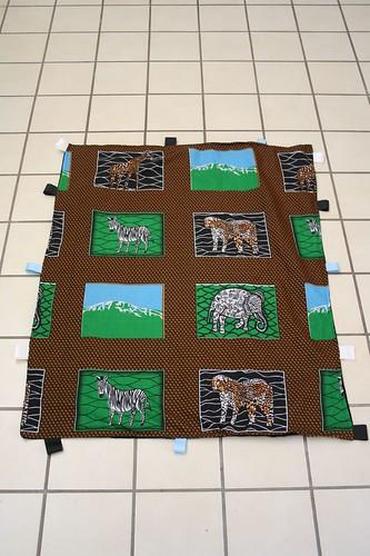 African capulana baby blanket