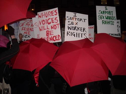 Reclaim the Night: Red Umbrella contingent