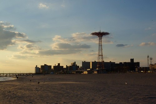 Coney Island in fall