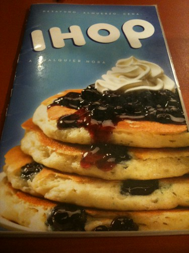 IHOP menu Guatemala City by Rudy Girón