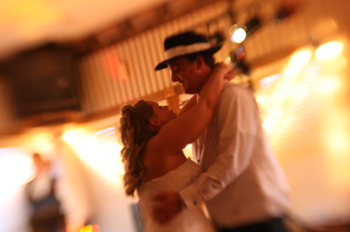 The couple dancing - taken with lensbaby
