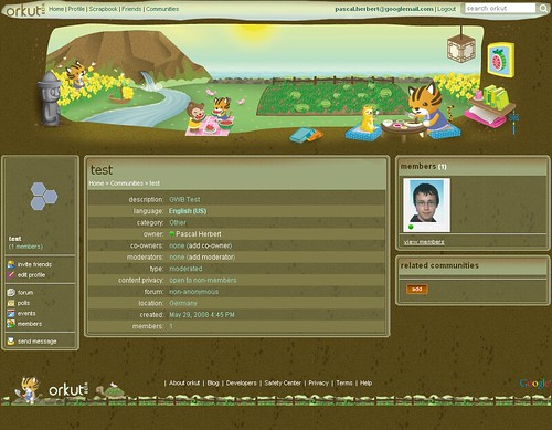 orkut theme - tiger