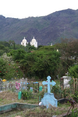 The Cathedral of Jinotega from the view of the cemetery