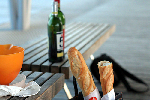 baguettes at picnic