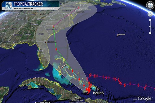Hanna Projected Path, 5am Advisory 09/02/2008