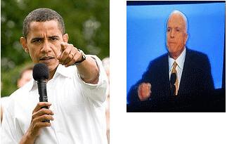 Obama McCain Fight