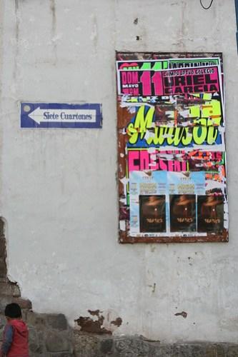 cusco cuzco peru street sign