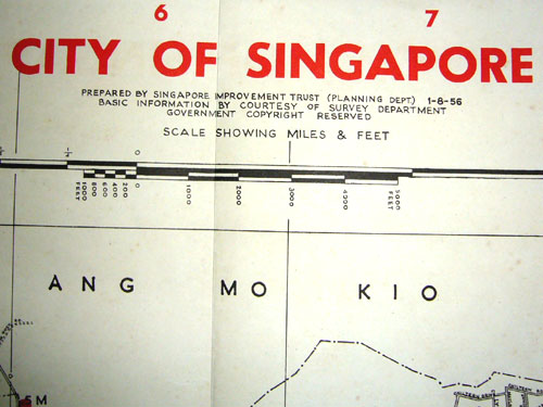 My Old Singapore Road Maps (3/6)