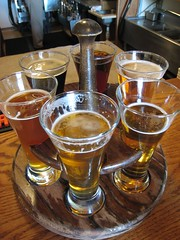 beer sampler at Brewer's Alley