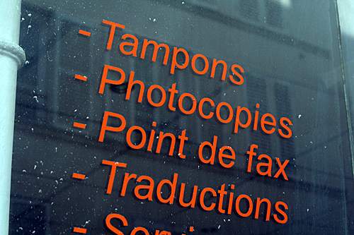 tampons fax traductions