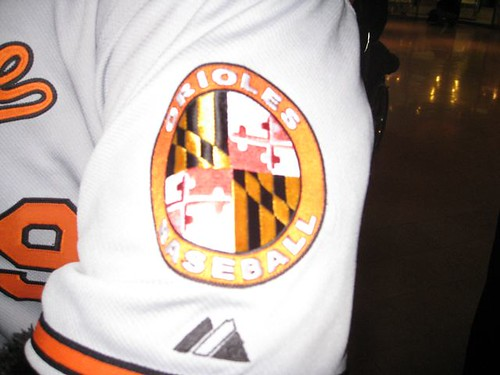 The Maryland patch on the sleeve