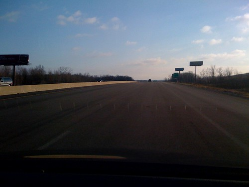 No lines on the road