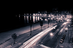 Montevideo - Rambla by night