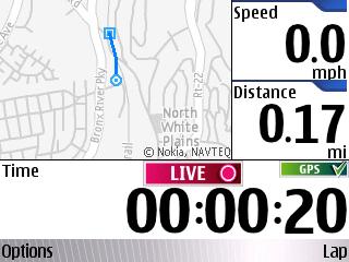 Sportstracker mobile mapping