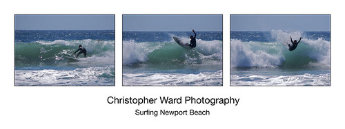 Surfing Newport Beach