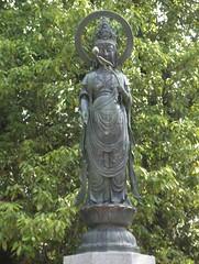 Statue in Peace Park in Hiroshima, Japan