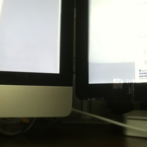 Apple's worst design decision of past five years. New iMac and Cinema displays don't line up!
