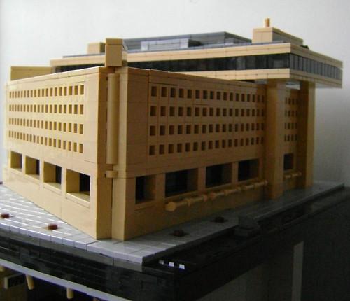 LEGO microscale J. Edgar Hoover FBI Headquarters