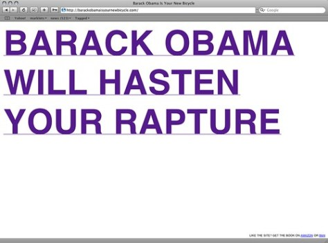 Barack Obama is your new rapture
