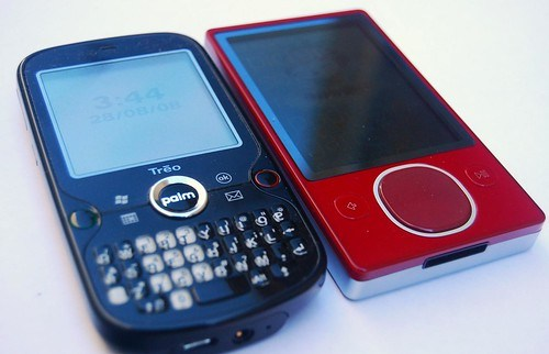 Treo Pro is slightly bigger than Zune