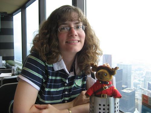 Stephanie at CN Tower