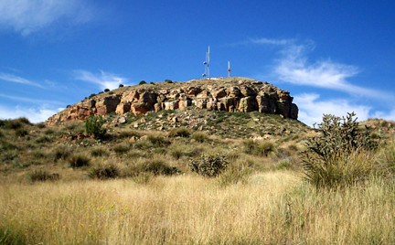 Tucumcari Mountain, seen from halfway up.