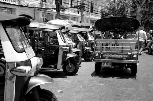 tuk-tuk, the 3 wheeled taxi - Bangkok