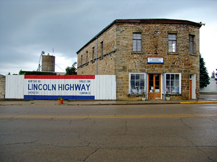 The Lincoln Highway in Franklin Grove, Ill. (Courtesy of PBS)