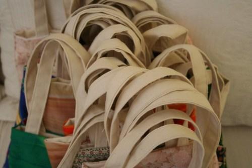 Sewn tote bags
