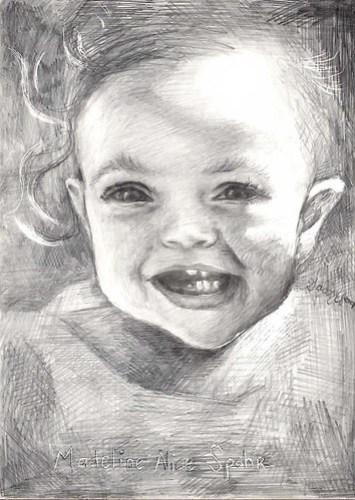 Maddie, by pencil