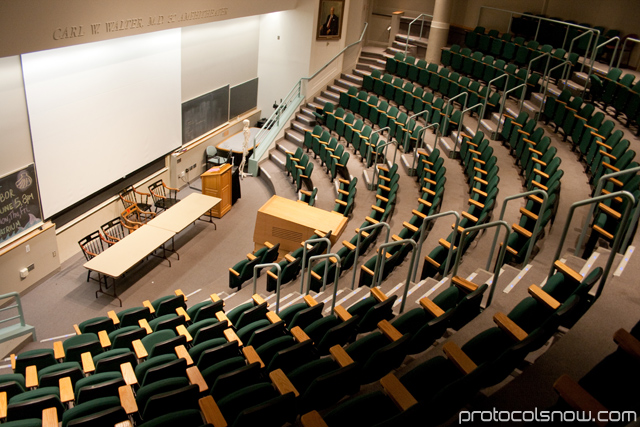 Harvard Medical School classroom