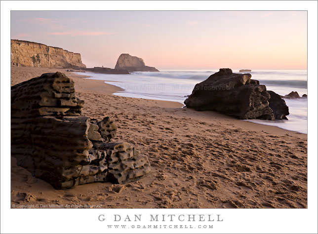 Boulders, Panther Beach, Twilight