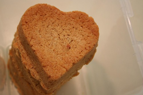 Peanut butter cookie hearts