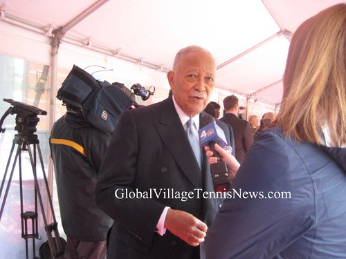 David Dinkins at NJHOF red carpet by you.