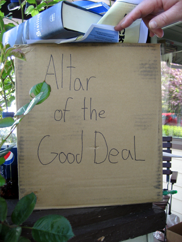Altar of the Good Deal