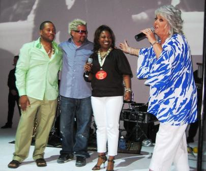 The Neelys, Guy Fieri, Paula Deen, 2009 SoBe Wine & Food Fest